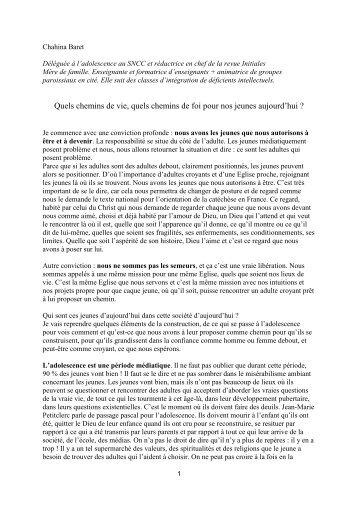 Chahina Baret - Diocèse de Sens-Auxerre