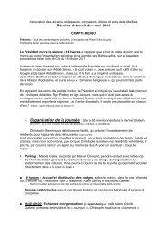 Réunion préparatoire au centenaire du 6 mai 2011 - Les Maitrisiens