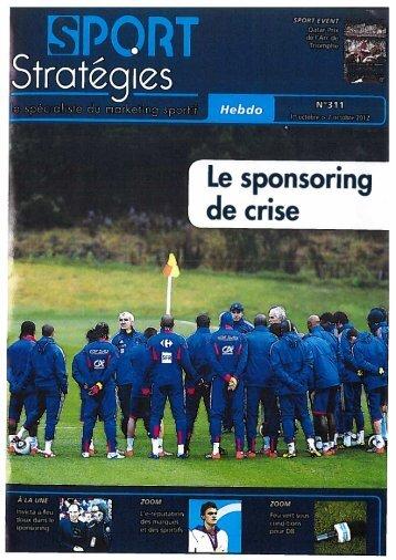 Le sponsoring de crise - FTPA
