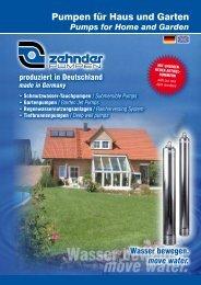 move water. - Zehnder-Pumpen