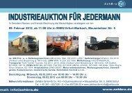 09. Februar 2012, ab 11:00 Uhr in 99092 Erfurt ... - ZehBra GmbH