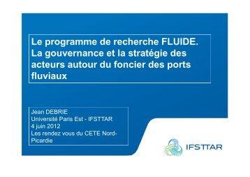 Le programme de recherche FLUIDE, la gouvernance et la stratégie ...