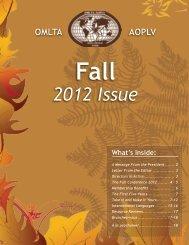 2012 Issue - Ontario Modern Language Teachers