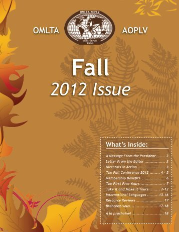 2012 Issue - Ontario Modern Language Teachers