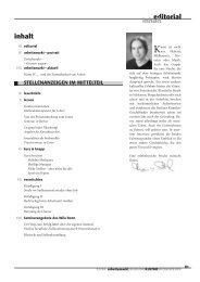 editorial inhalt inhalt - Zwischenakt