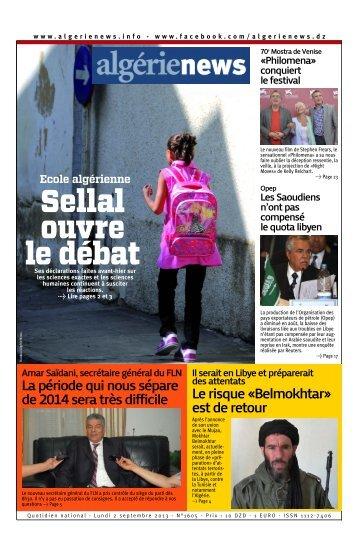 Fr-09-02-2013 - Algérie news quotidien national d'information