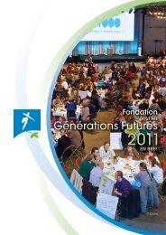 Fondation pour les Générations Futures - 2011 en bref ... - FGF