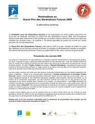Communiqué de presse - FGF