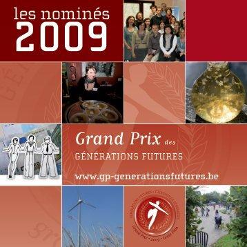 Grand Prix des Générations Futures 2009 - les nominés - FGF
