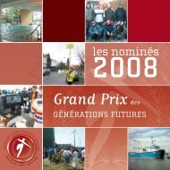 Grand Prix des Générations Futures - les nominés 2008 - FGF