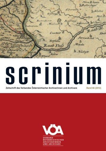 Scrinium Kern Band 66.indd - Ordensarchive Österreichs