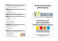deutscher und österreichischer Ordensarchivare/innen Zweite ...