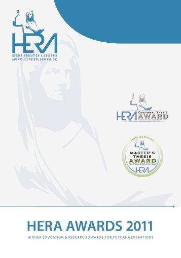 HERA Awards 2011 - Présentation des nominés et lauréat - FGF