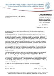 Philosophisch-Theologische Hochschule Valllendar • Pallottistraße ...