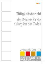 Tätigkeitsbericht - Ordensarchive Österreichs