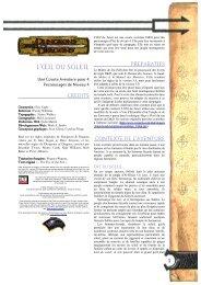 L'ŒIL DU SOLEIL - Strikeforce et Donjons et Dragons