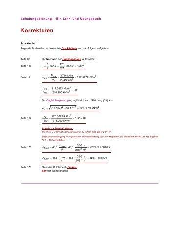 Bekannte Druckfehler (pdf) - Schalungsplanung