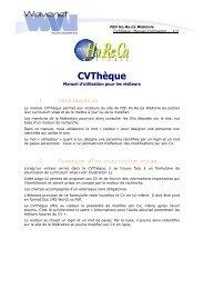 CVThèque - Fédération Horeca Wallonie