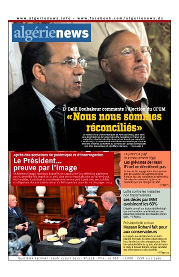 Fr-13-06-2013 - Algérie news quotidien national d'information