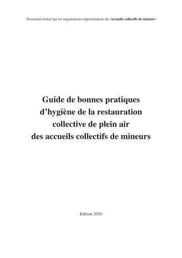 Guide de bonnes pratiques d'hygiène de la restauration collective ...
