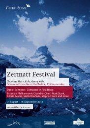 Das offizielle Programm 2012 (PDF) - Zermatt Festival 2012