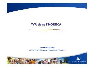 TVA dans l'HORECA - Fédération Horeca Wallonie