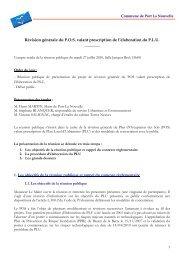 Révision générale du POS valant prescription de l ... - Port la Nouvelle
