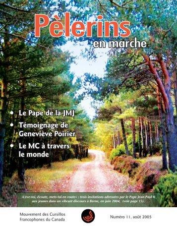 en marche - Mouvement des Cursillos Francophones