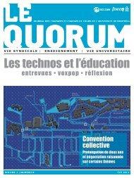 LE QUORUM - Été 2013 - SCCCUM - Université de Montréal