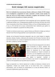 Scioli designó 445 nuevos magistrados - Ministerio de Jefatura de ...