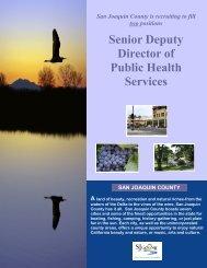 Senior Deputy Director of Public Health Services - JobAps