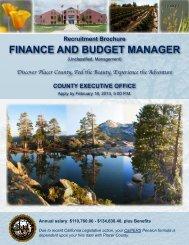 Recruitment Brochure FinAnce And Budget MAnAger - JobAps