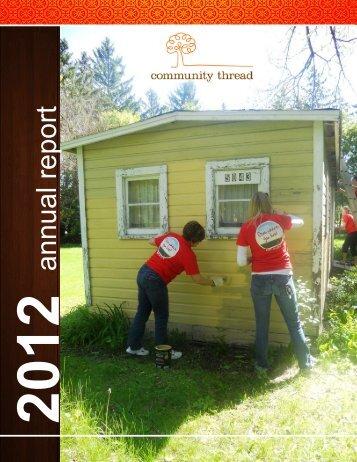 2012 Annual Report (PDF) - Community Thread