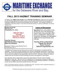 11/14/13 Fall 2013 HazMat Training Seminar