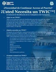 ¡Usted Necesita un TWIC™! - Port of Stockton