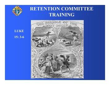RETENTION COMMITTEE TRAINING
