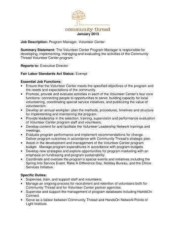 Wisconsin National Guard Family Program Volunteer Job Description
