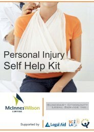 Personal Injury Self Help Kit - Suncoast Community Legal Service