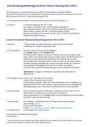 Ausschreibung - Kreisschachverband Teltow-Fläming