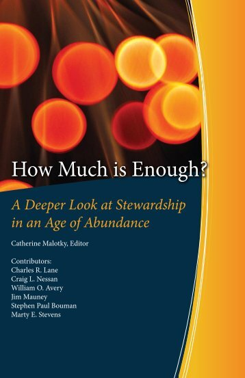How Much is Enough? - The Tithing and Stewardship Foundation