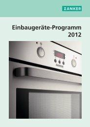 Einbaugeräte-Programm 2012 - Zanker