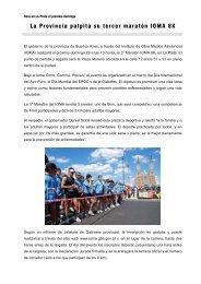 La Provincia palpita su tercer maratón IOMA 8K - Gobierno de la ...