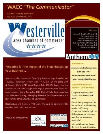2011 September Newsletter.pub - Westerville Area Chamber of ...