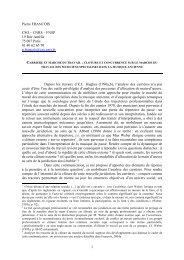 Carrières et marché du travail - pierrefrancois