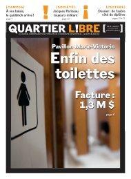 Enfin des toilettes - Quartier Libre