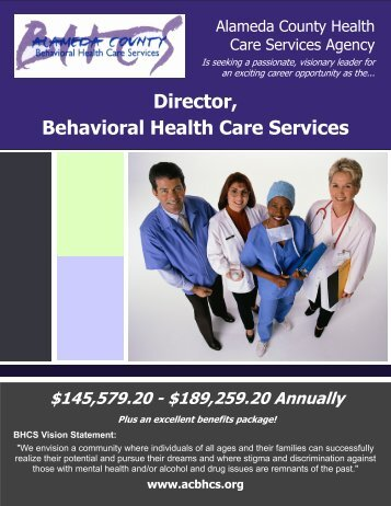 Director, Behavioral Health Care Services - JobAps