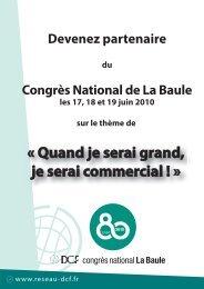Devenez partenaire Congrès National de La Baule - DCF