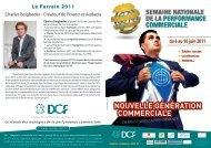 semaine nationale de la performance commerciale - DCF