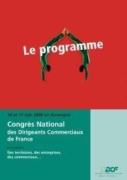 Le programme du Congrès - DCF