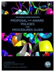 NSF Proposal & Award Policies & Procedures Guide
